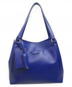 PELLE MORBIDA(ペッレモルビダ)の古着「トートバッグ」 ブルー