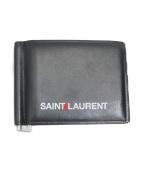 Saint Laurent Paris(サンローランパリ)の古着「マネークリップウォレット」|ブラック