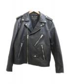 COACH(コーチ)の古着「レザーライダースジャケット」|ブラック