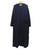 ENFOLD(エンフォルド)の古着「ロングカーディガン」|ネイビー