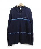 Supreme×LACOSTE(シュプリーム×ラコステ)の古着「ハーフジップポロシャツ」|ネイビー