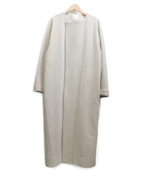 iki(イキ)iki (イキ) ノーカラーコート ベージュ サイズ:F 9 31-01-C0-008-19-2の古着・服飾アイテム