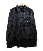 UNDERCOVER(アンダーカバー)の古着「Oversized Velvet Shirt」|ブラック