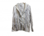 ISSEY MIYAKE(イッセイミヤケ)の古着「シワ加工ジャケット」|ホワイト×グレー