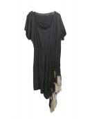 LIMI feu(リミフゥ)の古着「カットソーワンピース」|ブラック