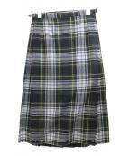 ONEIL OF DUBLIN(オニール オブ ダブリン)の古着「ラッププリーツスカート」 グリーン