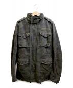wjk(ダブルジェイケイ)の古着「ダメージ加工M65ジャケット」|カーキ
