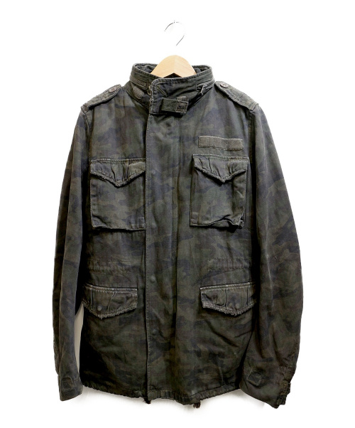 wjk(ダブルジェイケー)wjk (ダブルジェイケイ) ダメージ加工M65ジャケット カーキ サイズ:Sの古着・服飾アイテム
