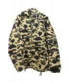 A BATHING APE(アベイシングエイプ)の古着「フーデッドジャケット」|ベージュ