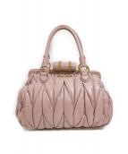 MIU MIU(ミュウミュウ)の古着「プリーツハンドバッグ」|ピンク