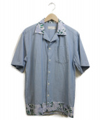MAISON KITSUNE(メゾンキツネ)の古着「開襟シャツ」 スカイブルー