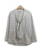 Yves Saint Laurent Rive Gauche(イヴサンローランリヴゴーシュ)の古着「変形シャツ」|グレー
