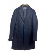 EDIFICE(エディフィス)の古着「メルトンチェスターコート」|ネイビー