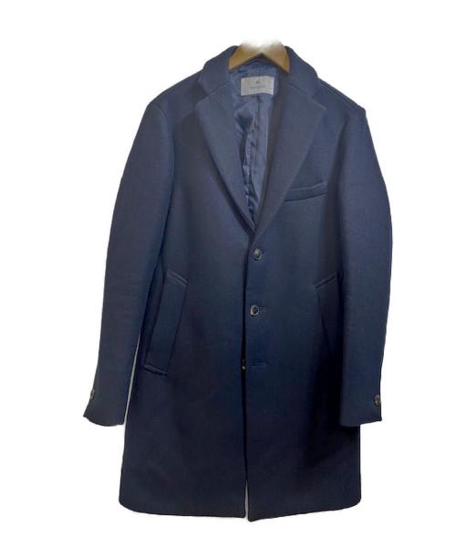 EDIFICE(エディフィス)EDIFICE (エディフィス) メルトンチェスターコート ネイビー サイズ:Ⅼの古着・服飾アイテム