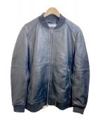 Details(ディテールズ)の古着「ラムレザージャケット」|ブラック