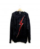 glamb(グラム)の古着「Lightning bolt knit」 ブラック