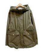 PLST(プラステ)の古着「ポリエステルツイルミドルタケフーデッドジャケット」|ベージュ