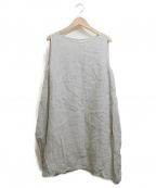 evam eva()の古着「sleeveless side drape tunic」|グレー