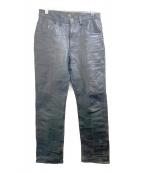 LEE(リ)の古着「レザーパンツ」|ブラック