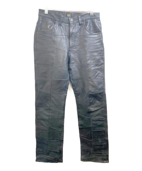 LEE(リー)LEE (リ) レザーパンツ ブラック サイズ:32の古着・服飾アイテム