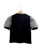CELFORD(セルフォード)の古着「オーガンジー切替ニット」|ブラック