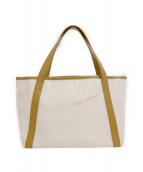 PELLE MORBIDA(ペッレモルビダ)の古着「PVCハンドバッグ」 ホワイト