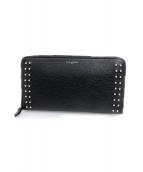 PELLE MORBIDA(ペッレモルビダ)の古着「ラウンドジップ長財布」|ブラック