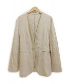 23区(ニジュウサンク)の古着「ノーカラージャケット」|ベージュ