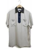 LANVIN(ランバン)の古着「ハーフジップシャツ」 ライトグレー