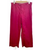 FRANK LEDER(フランクリーダ)の古着「ワイドパンツ」|レッド