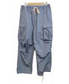 ritrovo(リトローボ)の古着「ナイロン混ルーズカーゴパンツ」|グレー
