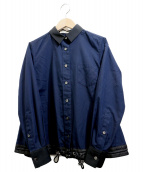 sacai(サカイ)の古着「ドローコードシャツ」|ネイビー