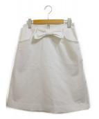 MS GRACY(エムズグレイシー)の古着「リボンスカート」|ホワイト