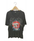 DIESEL(ディーゼル)の古着「刺繍カットソー」|ブラック