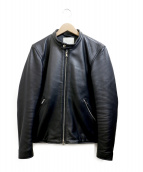 PUBLIC TOKYO(パブリックトウキョウ)の古着「シングルライダースジャケット」|ブラック