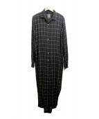MIHARA YASUHIRO(ミハラヤスヒロ)の古着「デザインネルシャツ」 ブラック