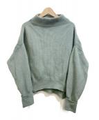 MACPHEE(マカフィ)の古着「フレンチウール ビルドネックプルオーバー」|グリーン
