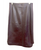 EPOCA(エポカ)の古着「シープレザースカート」|ブラウン