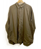 WILLY CHAVARRIA(ウィリーチャバリア)の古着「BIG DRESS SHIRTS」|カーキ