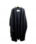 ara ara(アラアラ)の古着「ヤクロングニットカーディガン」 ブラック