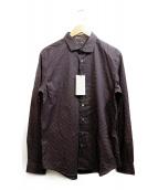 Paul Smith COLLECTION(ポールスミスコレクション)の古着「シャツ」|ブラウン×ホワイト