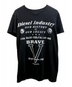 DIESEL(ディーゼル)の古着「プリントTシャツ」|ブラック