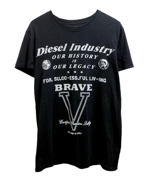 DIESEL(ディーゼル)DIESEL (ディーゼル) プリントTシャツ ブラック サイズ:Mの古着・服飾アイテム