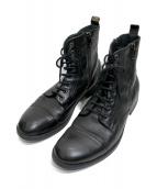 DIESEL(ディーゼル)の古着「サイドジップブーツ」|ブラック