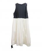 YOKO CHAN(ヨーコチャン)の古着「Gathered Dress」 ブラック×ホワイト