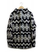 1piu1uguale3(ウノピュウノウグァーレトレ)の古着「フーデッドコート」|ホワイト×ブラック