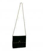 Karl Lagerfeld(カール ラガーフェルド)の古着「チェーンショルダーバッグ」|ブラック
