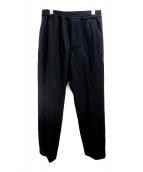 CLANE HOMME(クラネ オム)の古着「サイドラインウールパンツ」 ブラック