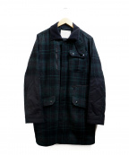 WHITE MOUNTAINEERING()の古着「Flannel Check Pocket coat」|グリーン×ブラック