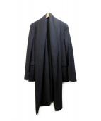 KRIS VAN ASSCHE(クリスヴァンアッシュ)の古着「変形テーラードジャケット」|ブラック